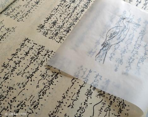 LINDA COTE-Heron's Story paper