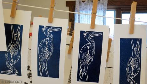 LINDA COTE-Heron's Story prints