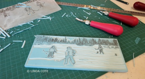LINDA COTE-Hockey carving