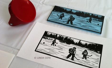 LINDA COTE-Hockey print