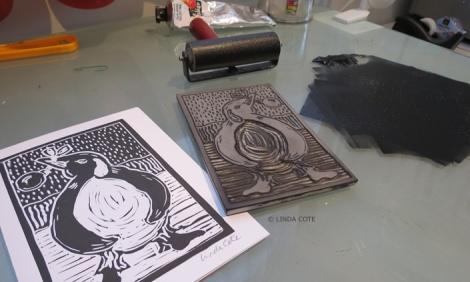 LINDA COTE-Penguing Card
