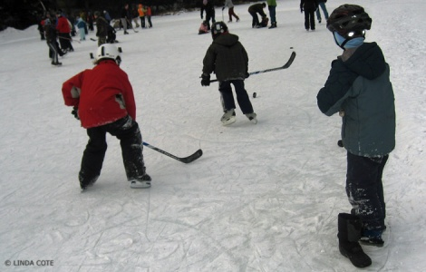 LINDA COTE-Pond Hockey Canmore