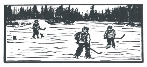 LINDA COTE-Pond Hockey