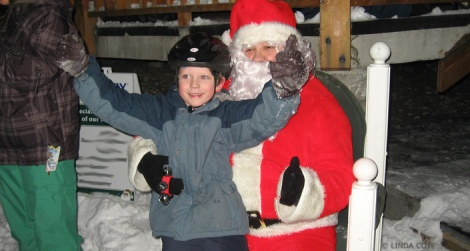 LINDA COTE-Skate with Santa