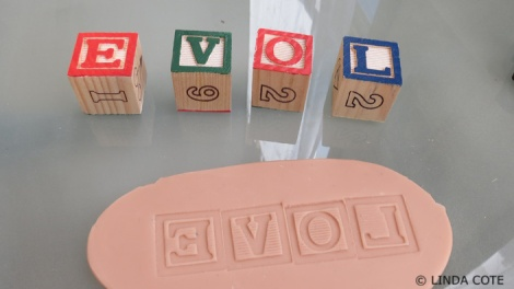 LINDA COTE-letters clay