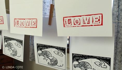 LINDA COTE-letters print dry