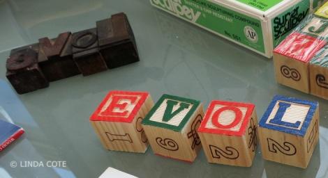 LINDA COTE-wooden letters