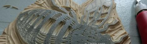 LINDA COTE-Bee print feat