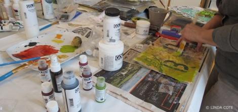 LINDA COTE-Joan Painting