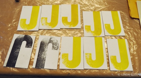 LINDA COTE-Letterpress Prints