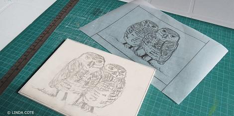 LINDA COTE-Owl blocks