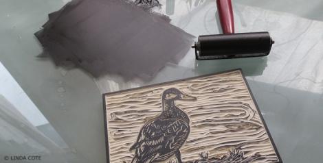 LINDA COTE-Mallard inking