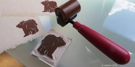 LINDA COTE-Bear block