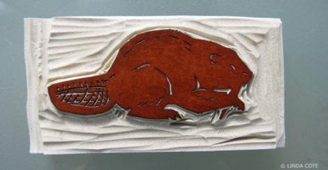 LINDA COTE-Beaver block