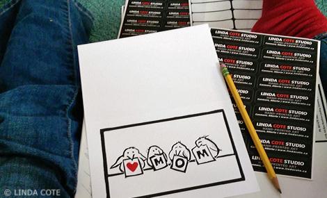 LINDA COTE-signing cards