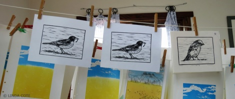 LINDA COTE-Robin print drying