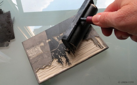 LINDA COTE-Bear ink