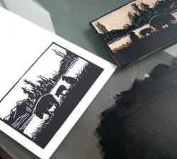 LINDA COTE-bear printing