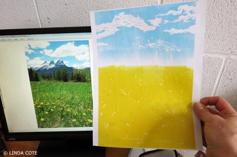 LINDA COTE-ink layer 1 print check