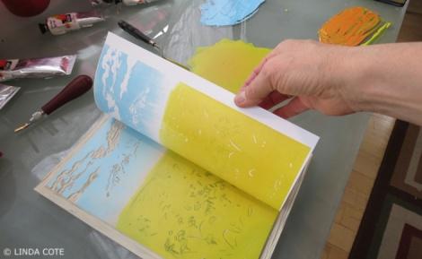 LINDA COTE-ink layer 1 print