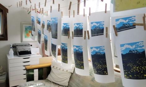 LINDA COTE- layer 2 prints