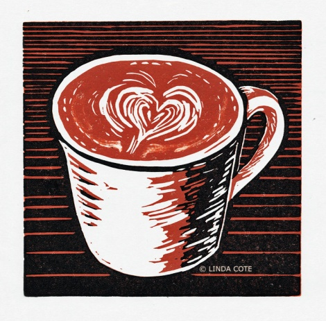 LINDA COTE-Latte Love print