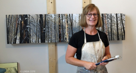 LINDA COTE-Barb Fyvie in Studio