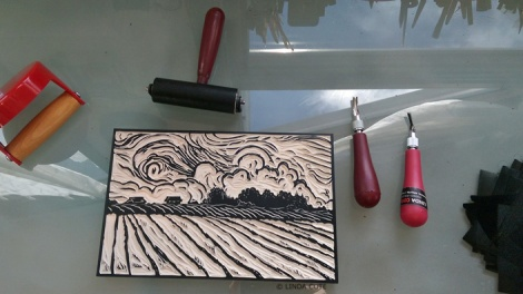 LINDA COTE-Inking Field block