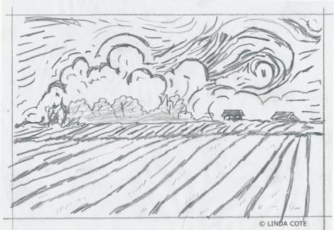 LINDA COTE-Trace drawing