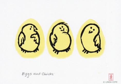 LINDA COTE-Eggs and Chicks