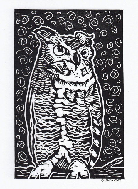 LINDA COTE-Great Horned Owl Card