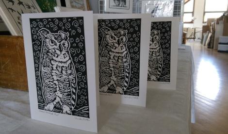 LINDA COTE-Owl cards