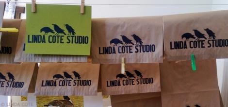 LINDA COTE-2nd Bags hanging
