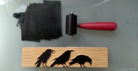 LINDA COTE-inked ravens