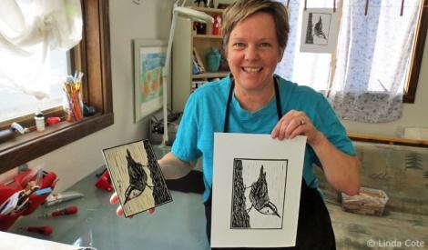 LINDA COTE-Nuthatch & Artist