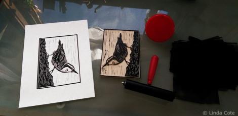 LINDA COTE-Nuthatch Ink