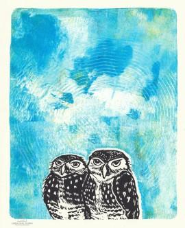 LINDA COTE-Radiant Owls 6-sm