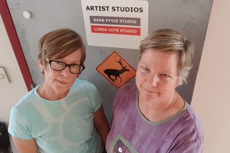 LINDA COTE=Linda & Barb sad